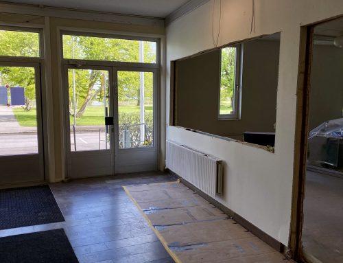 Uppdatering kring renoveringen i Strandbjörkshallen